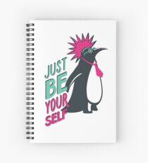 Penguin punk Spiral Notebook