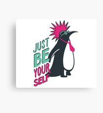 Penguin punk Canvas Print