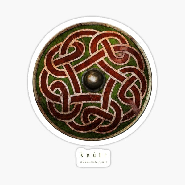 Bouclier entrelacs viking Saxon  Sticker