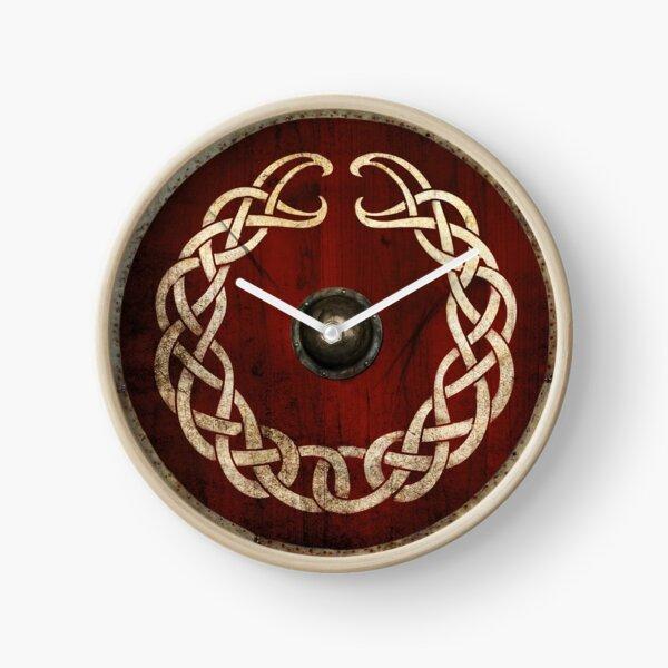 Bouclier viking Entrelacs Nordiques Horloge