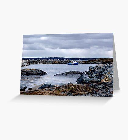 Blue Rocks-Tiny Harbour (1) Greeting Card