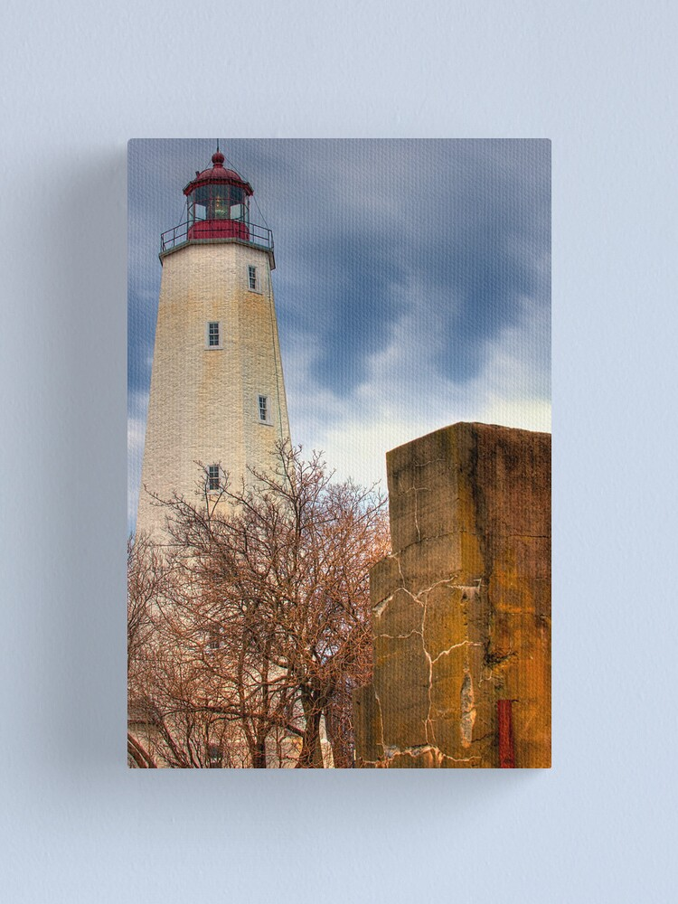 Alternate view of Barnegat Light and The Fort Canvas Print