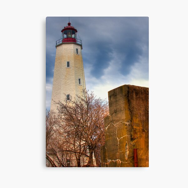 Barnegat Light and The Fort Canvas Print