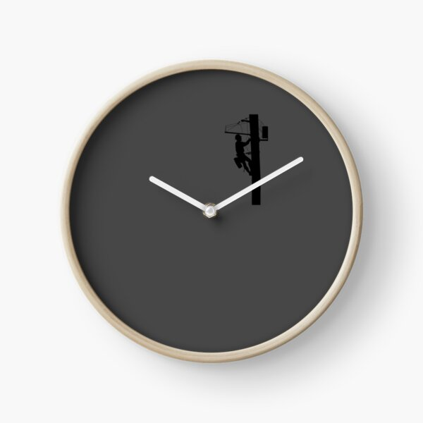 Lineman Art | Electric Cable Lineman Design Gift Clock