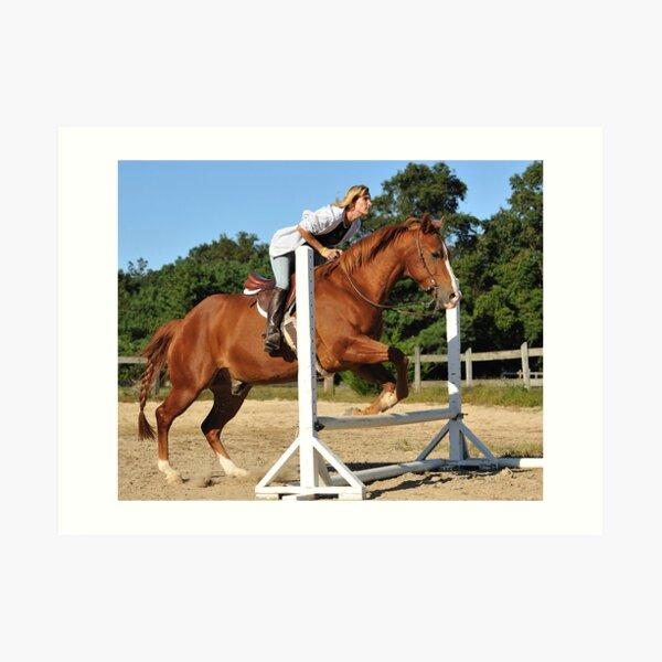 The Quarter Horse Jump Art Print