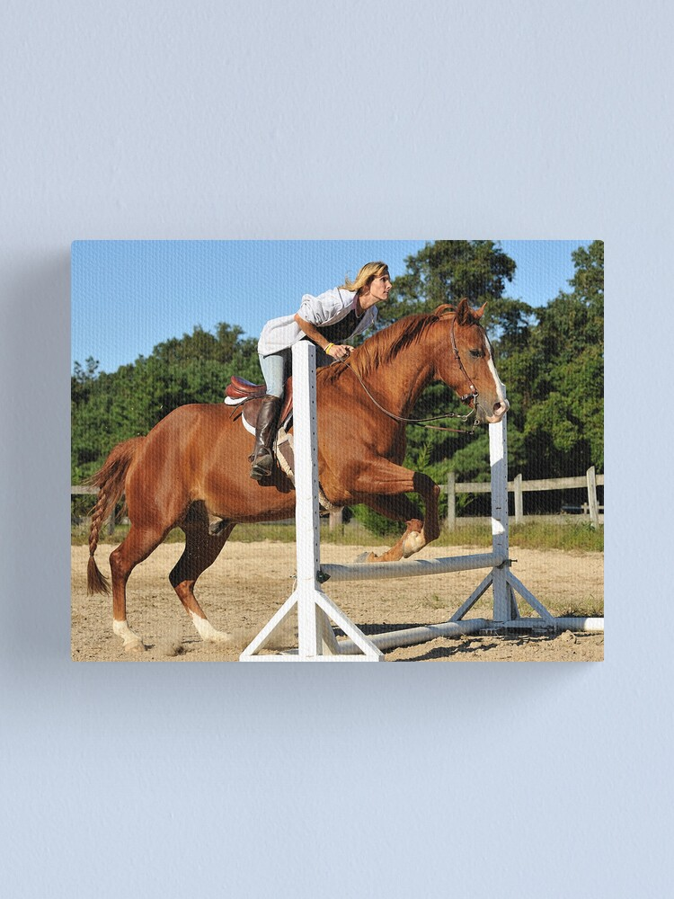 Alternate view of The Quarter Horse Jump Canvas Print