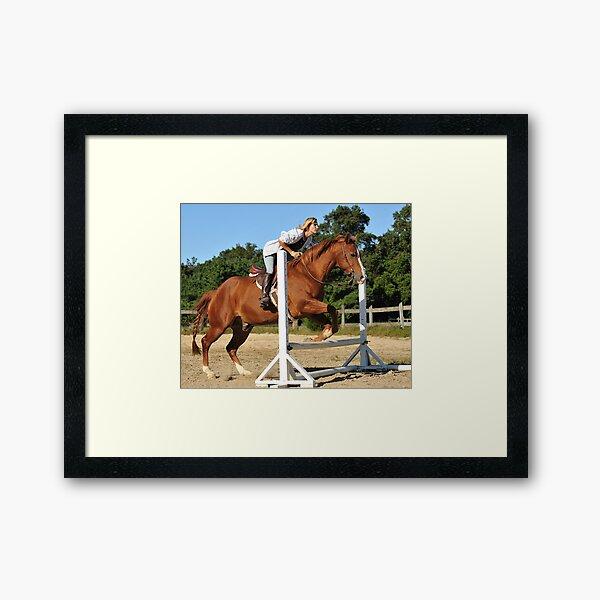 The Quarter Horse Jump Framed Art Print