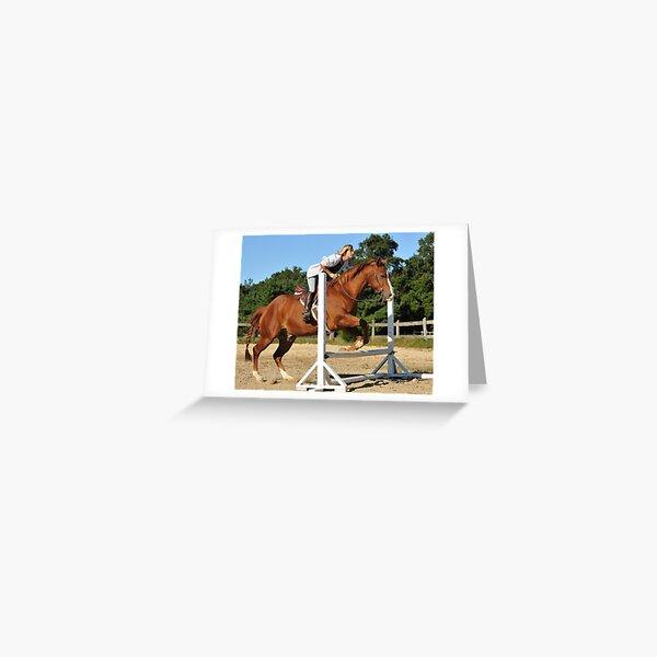 The Quarter Horse Jump Greeting Card