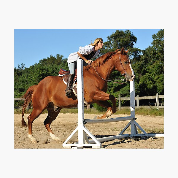 The Quarter Horse Jump Photographic Print