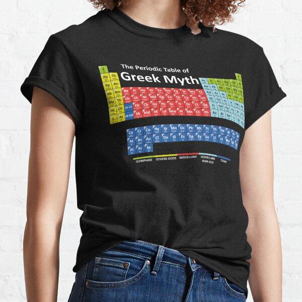 Tableau périodique de la mythologie grecque T-shirt classique