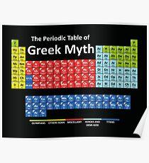 Periodic Table of Greek Mythology Poster