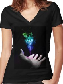 You have the power Women's Fitted V-Neck T-Shirt