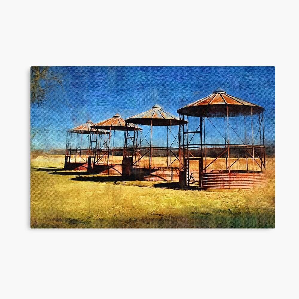 Old Farm Silos Canvas Print