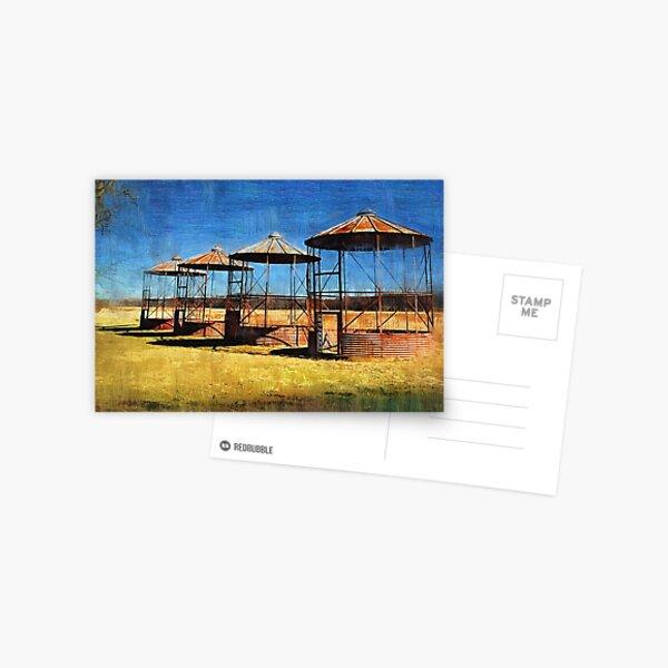 Old Farm Silos Postcard
