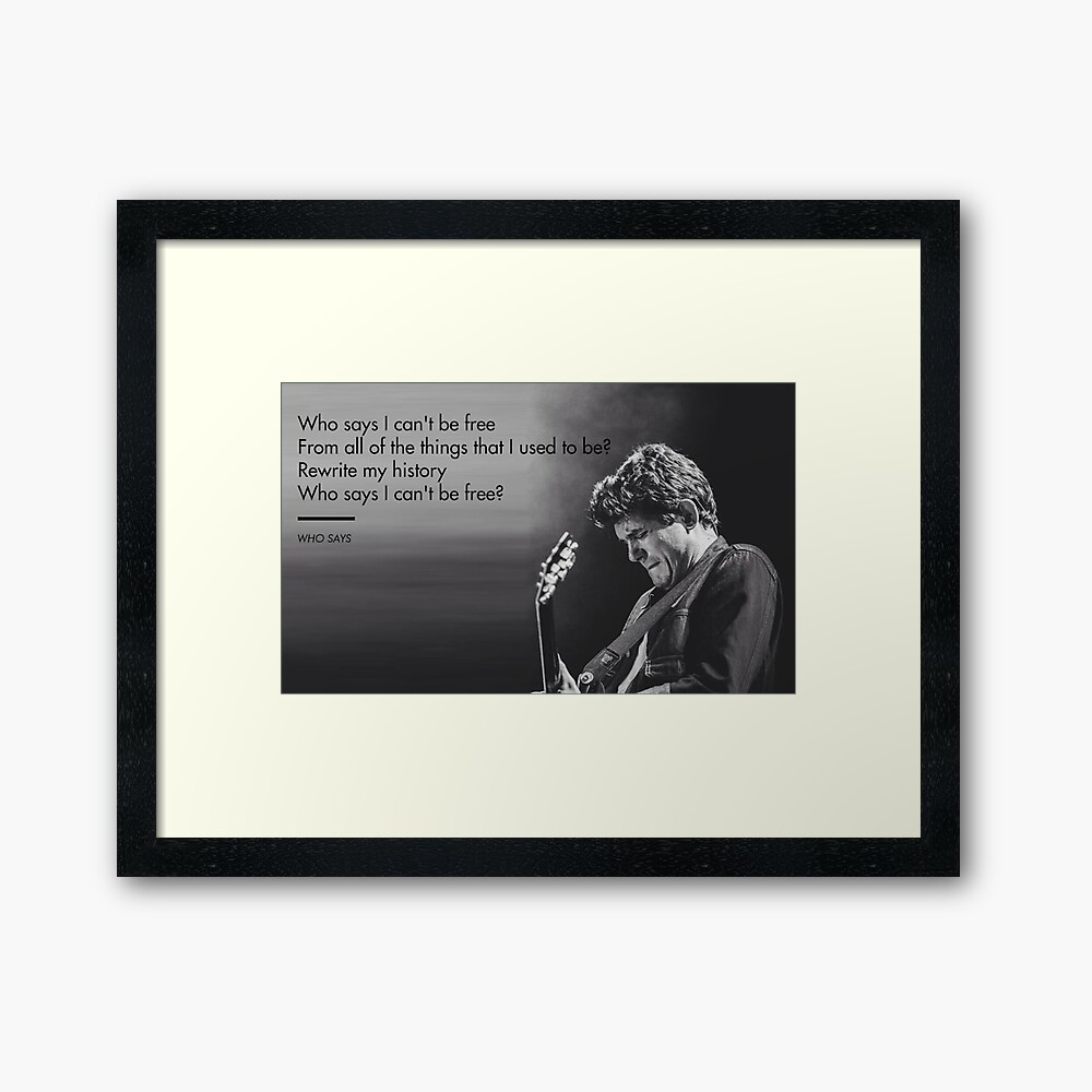 John Mayer, Quotes, Gifts, Presents, Why says lyrics, Music, Occupations, Colors, Culture, Pop Culture Framed Art Print