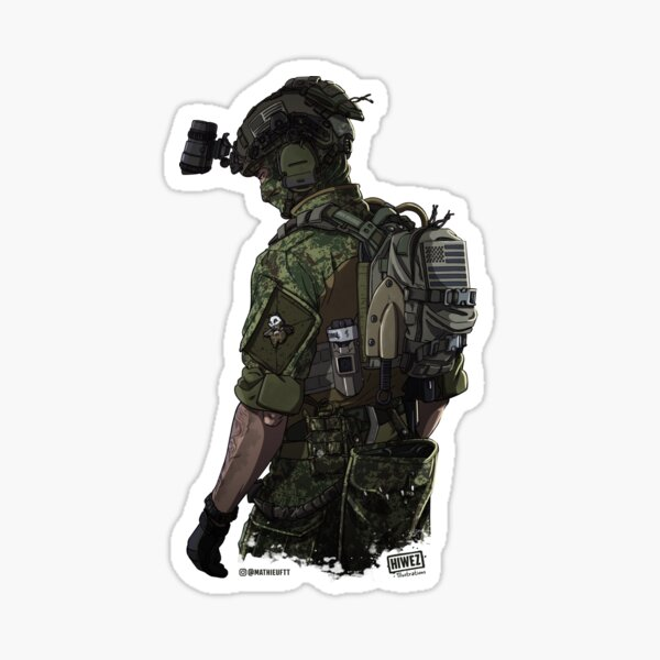 Special Ops Military soldier Sticker