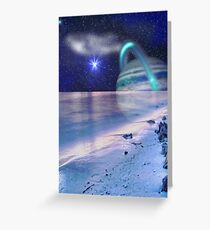 Space on the Beach Greeting Card