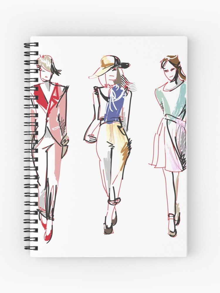 Custom Hand Draw Three Models T Shirt Spiral Notebook By Yousifazeez Redbubble