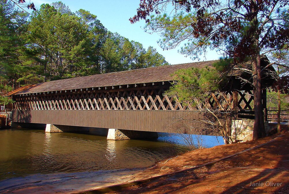 Stone Mountain Covered Bridge by Janie Oliver