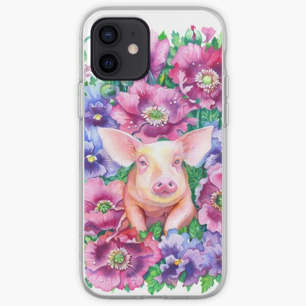 Pig Chinese Zodiac Watercolour iPhone Soft Case