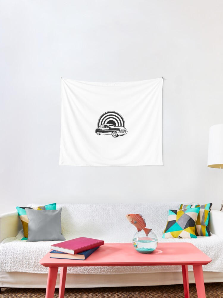 Car Auto Repair Shop Collector S Car Retro Style Transportation Tapestry By Designsbyaymara Redbubble