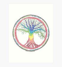 Lámina artística Como arriba, debajo del árbol Chakra