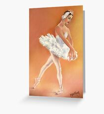 Odette Dancing in Swan Lake Greeting Card