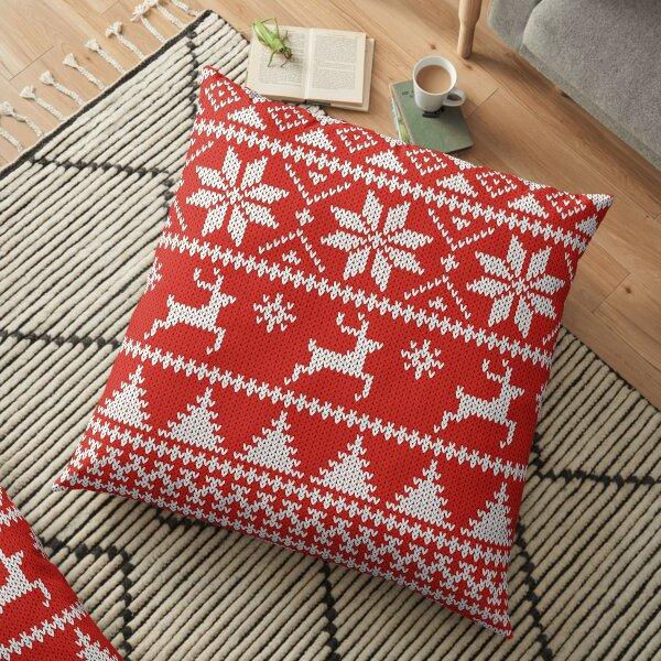 Fair Isle Christmas Floor Pillow