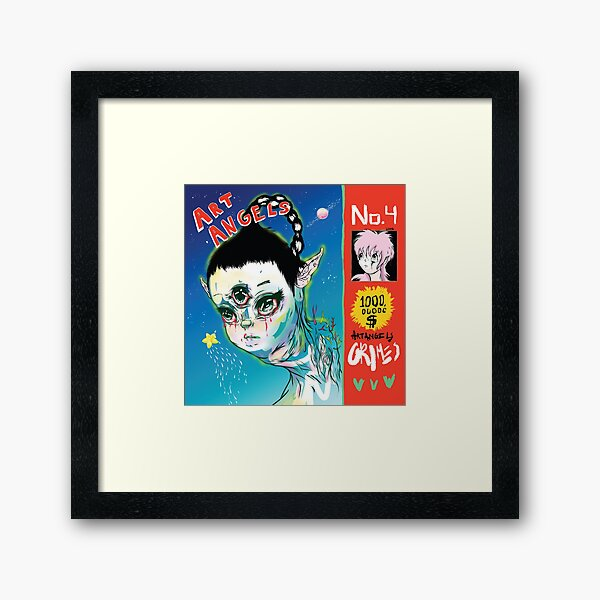 Grimes - Art Angels Framed Art Print