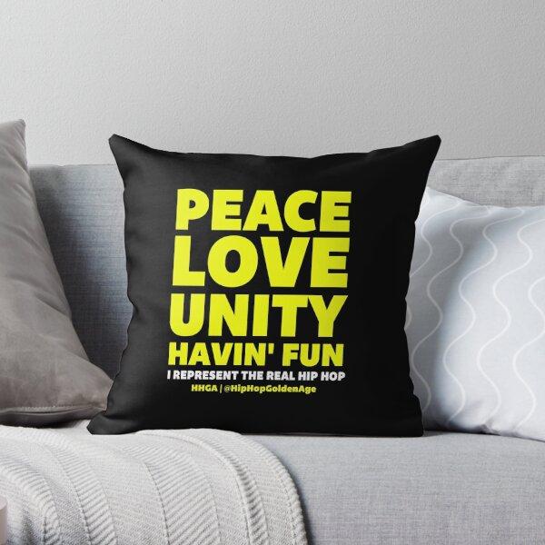 I Represent The Real Hip Hop Throw Pillow
