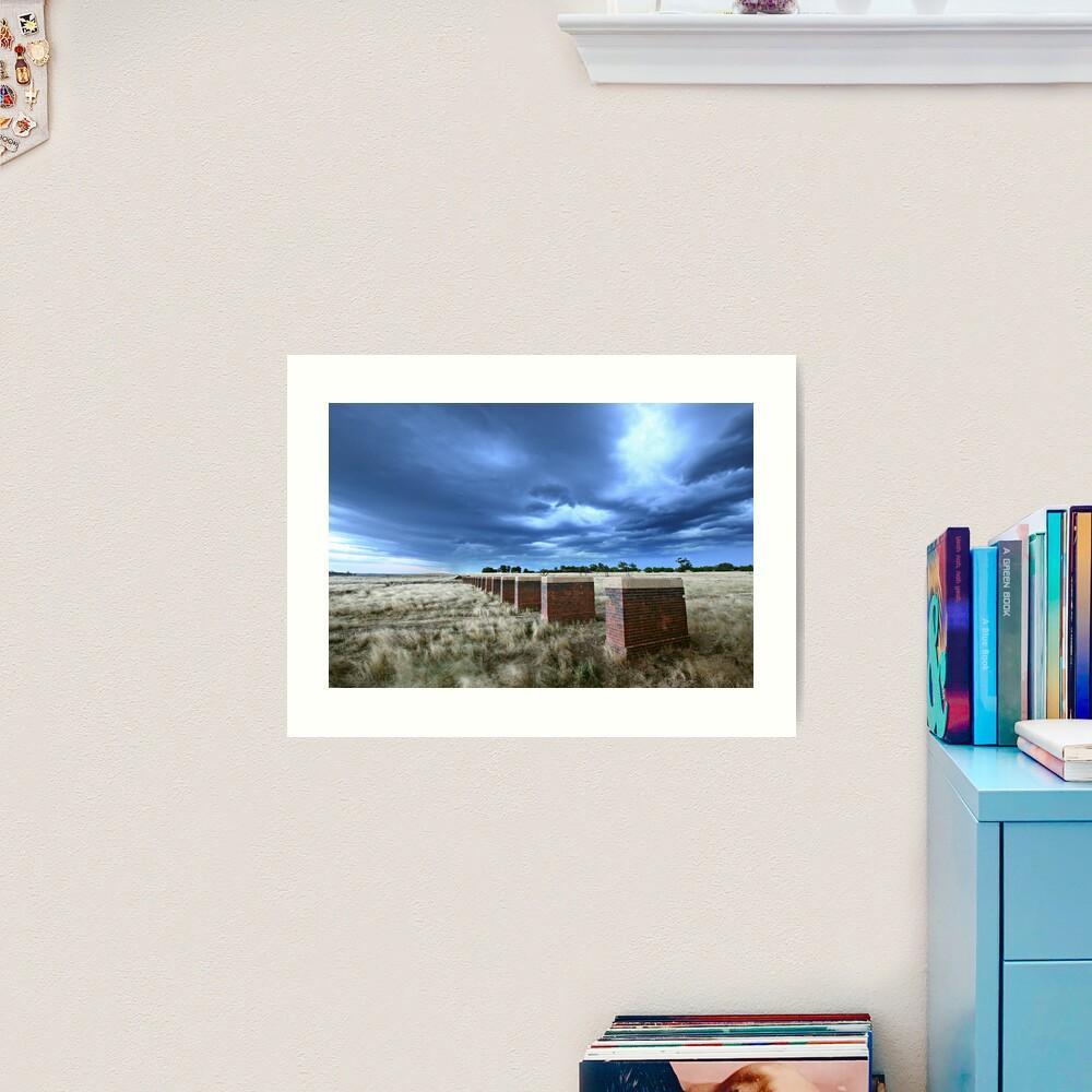 Storm Bridge, Castlemaine, Australia Art Print