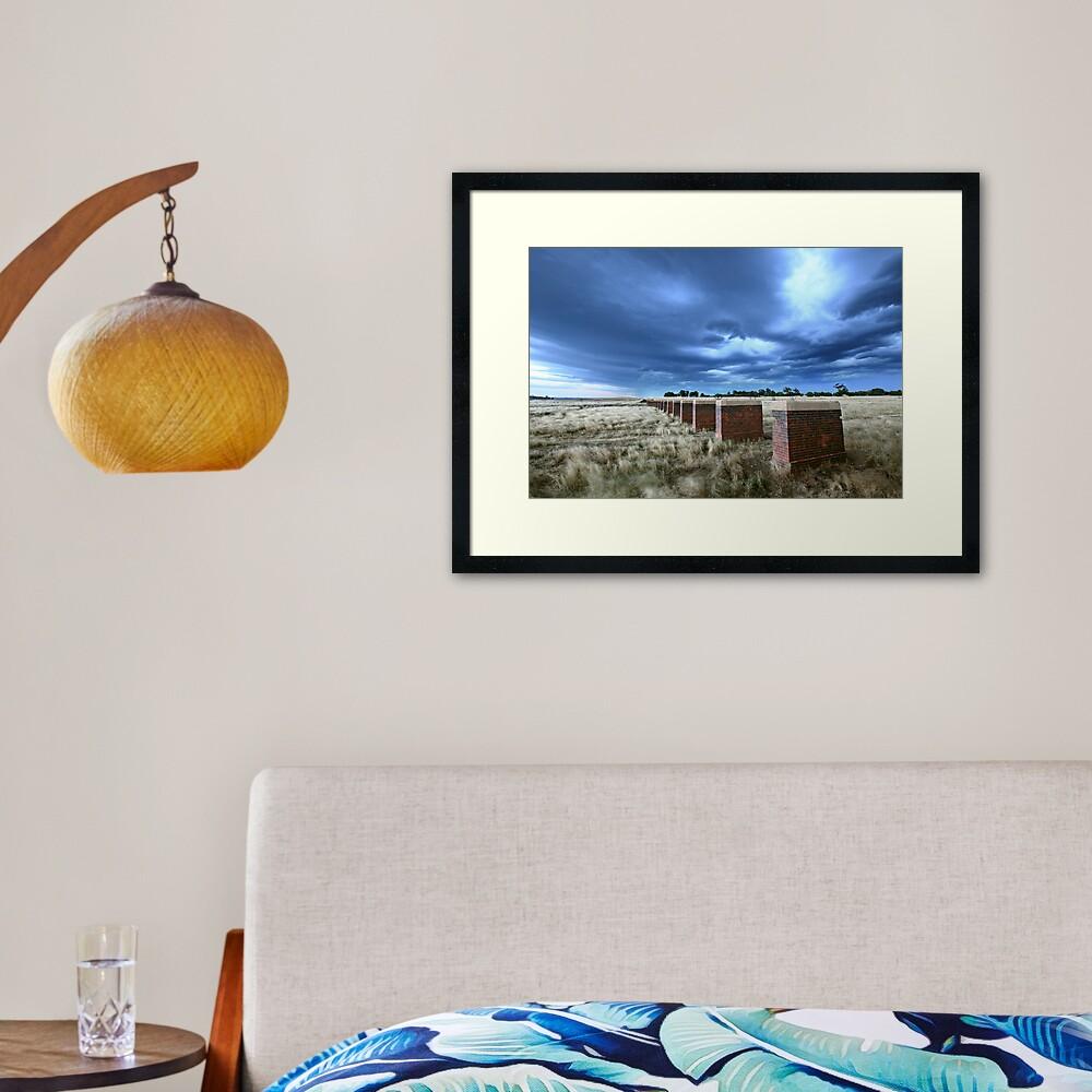 Storm Bridge, Castlemaine, Australia Framed Art Print