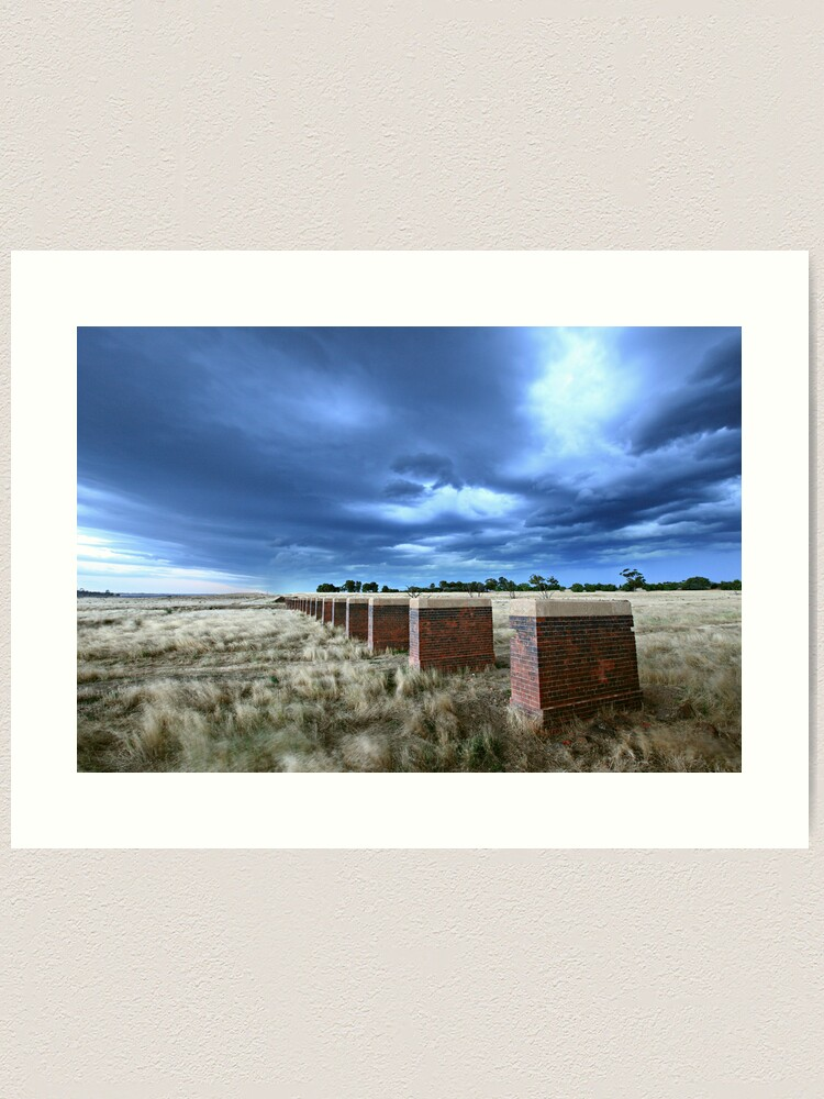 Alternate view of Storm Bridge, Castlemaine, Australia Art Print