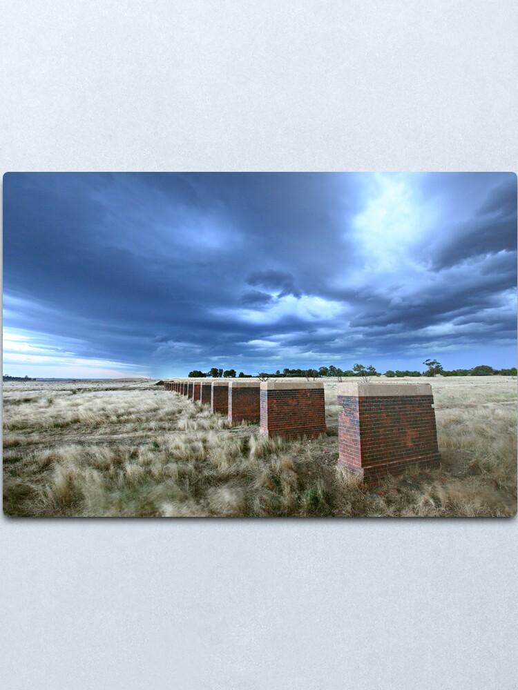 Alternate view of Storm Bridge, Castlemaine, Australia Metal Print