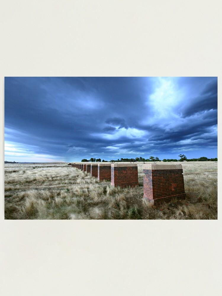 Alternate view of Storm Bridge, Castlemaine, Australia Photographic Print
