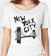 New York City - Brooklyn Bridge Women's Relaxed Fit T-Shirt