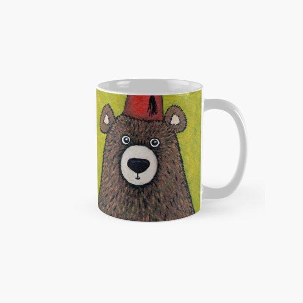 Brown Bear wearing a Fez Classic Mug