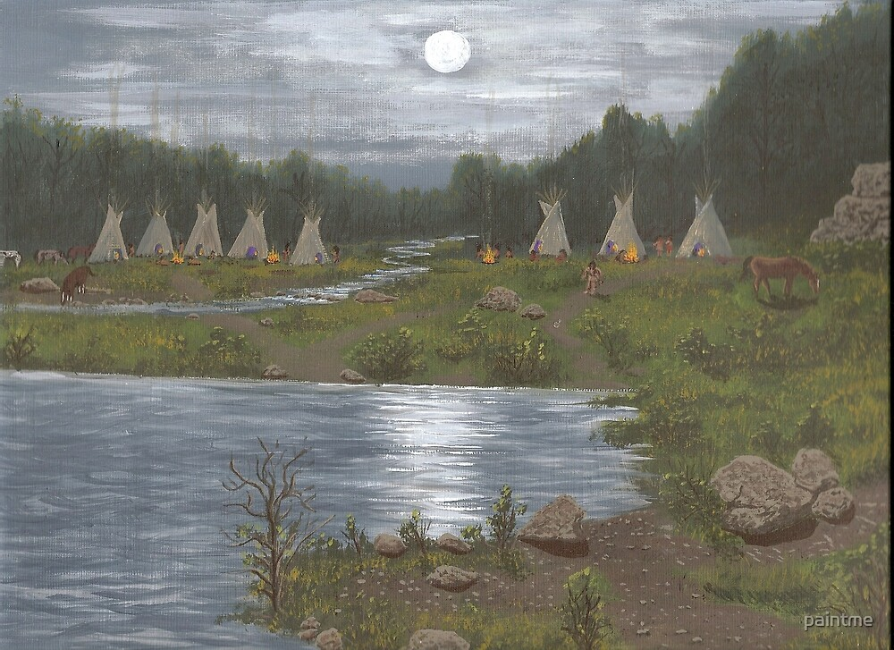 Indian Camp by paintme