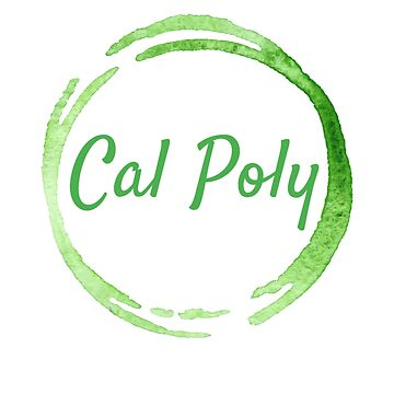 Cal Poly Watercolor Circlr by emmanne03