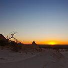 Sunset at Mungo Lake National Park by Fernando Pizzani