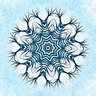 Snowflake Mandala In Blue by Boriana Giormova