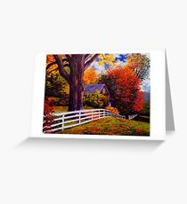 Fence in New England Greeting Card