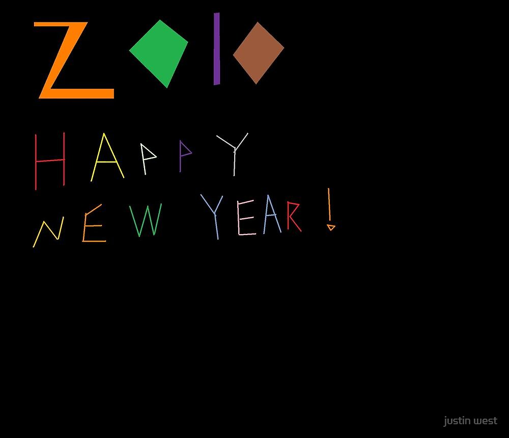2010 happy new year by justin west