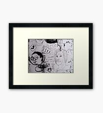Doodles.  Framed Print