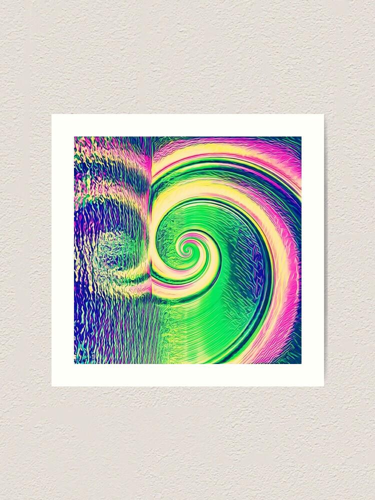 Alternate view of Fibonacci abstract reflections Art Print
