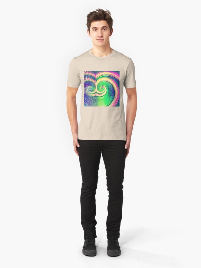 Alternate view of Fibonacci abstract reflections Slim Fit T-Shirt