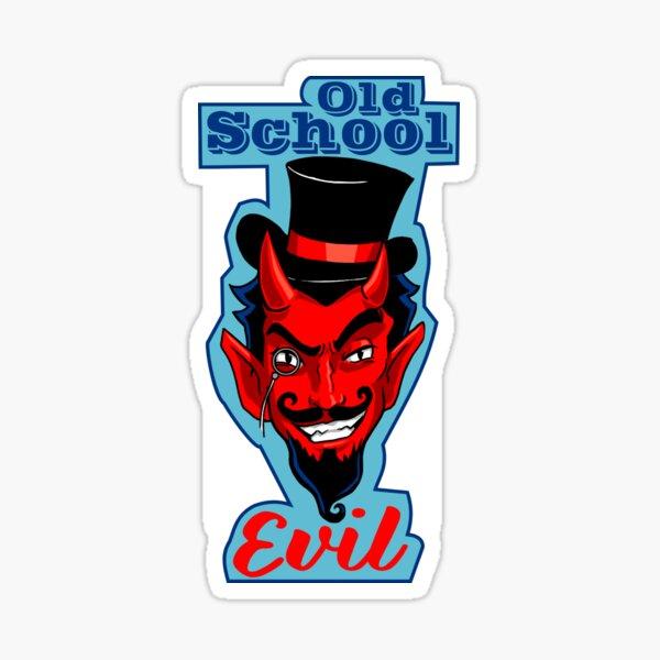 Old School Evil Sticker