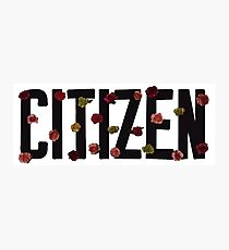 Citizen logo Photographic Print