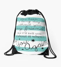 See You Again Lyrics Highlight Drawstring Bag