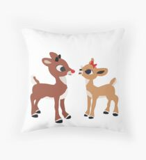 Classic Rudolph and Clarice Throw Pillow